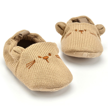 Adorable Infant Slippers Toddler Baby Boy Girl Knit Crib Shoes Cute Cartoon Anti-slip Prewalker Baby Slippers 1