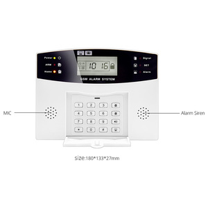 Image 5 - Home Security Alarm systems Metal Remote Control Voice Prompt Wireless Door sensor LCD Display Wired Siren Kit SIM SMS GSM Alarm