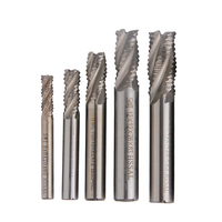 5pcs Roughing Milling Cutter Carbide End Mill 4 Flutes Spiral Router Bit 6 8 10 12