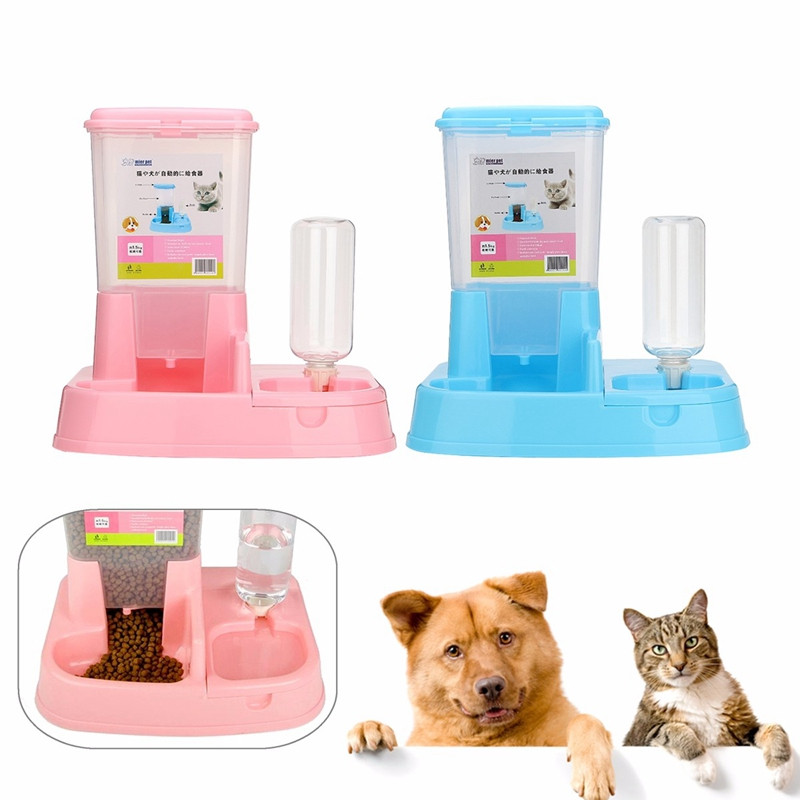 Image result for 1.5L Pet Dog Cat Automatic Feeder Drinker Dogs Puppy Kitty Feeding Bow...
