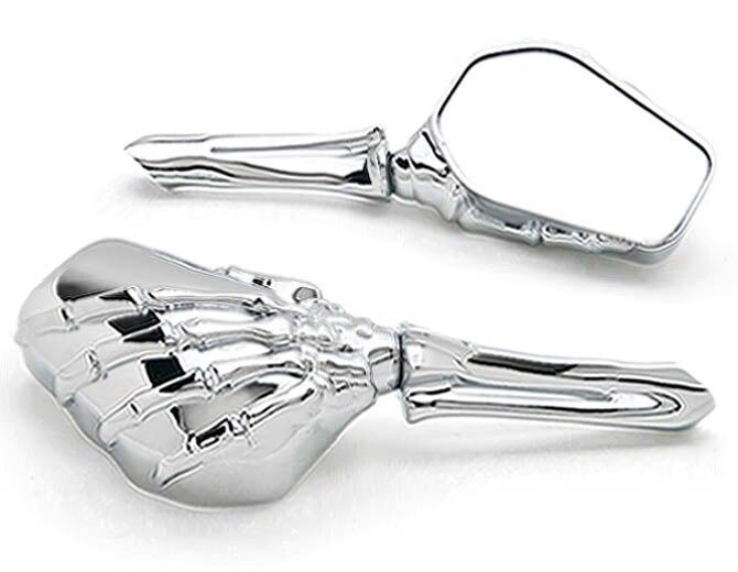 Chrome Skeleton Mirrors For Harley Davidson Softail Springer Heritage Classic black chrome skeleton mirrors for harley davidson softail springer heritage classic