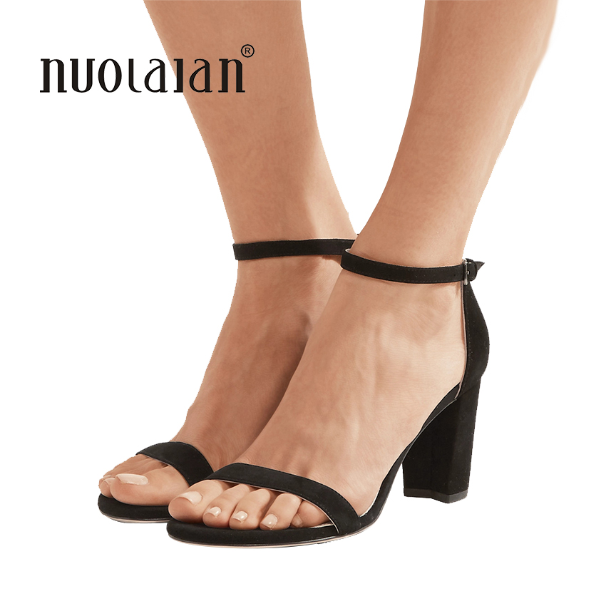 2018 Summer Women Pumps Sexy High Heels sandals Buckle Strap Women Shoes Black Red Ladies High Heels Party Dress Shoes Woman crystal queen sandals 14cm high heels women pumps sexy style buckle strap white lace pearl tassel fower wedding shoes summer