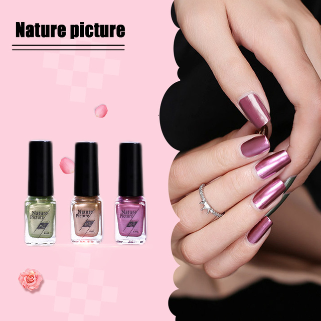Nature Picture 12 Kinds Of Color Shiny Nail Polish Mirror Effect ...