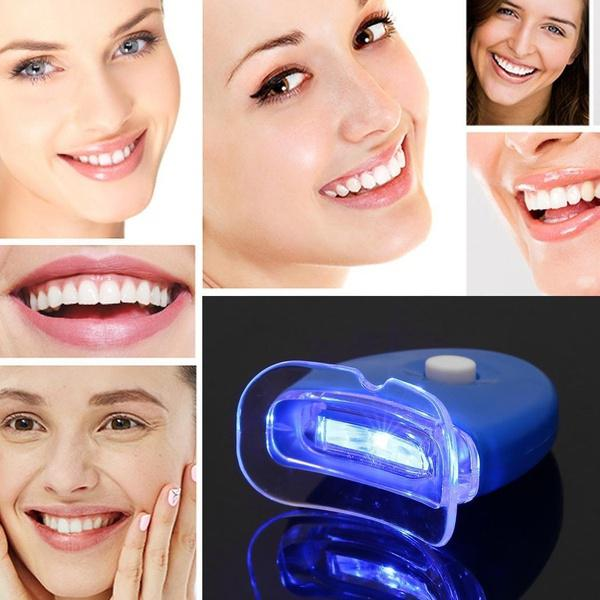 BearPaw Women Beauty Health Teeth Whitening Health Care LED Light Bleaching Compact Portable Led Light Device Tooth Whitening