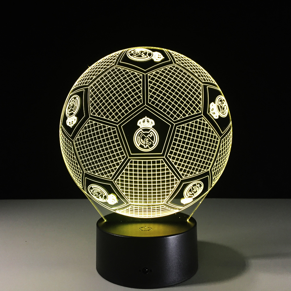 Hot 3D LED lamp 7 Colors Changing 3D Illusion Lamp Soccer Night Light 3D Visual Light Gift For Sport Lover Christmas Gifts ynynoo star wars bb8 droid 3d bulbing light toys 2016 new 7 color changing visual illusion led lamp yoda millennium falcon toy