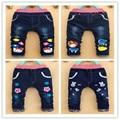 Nueva primavera otoño ropa de los niños del bebé niños niñas pantalones pantalones vaqueros de los niños de dibujos animados al por menor 2-5 años de edad envío gratis