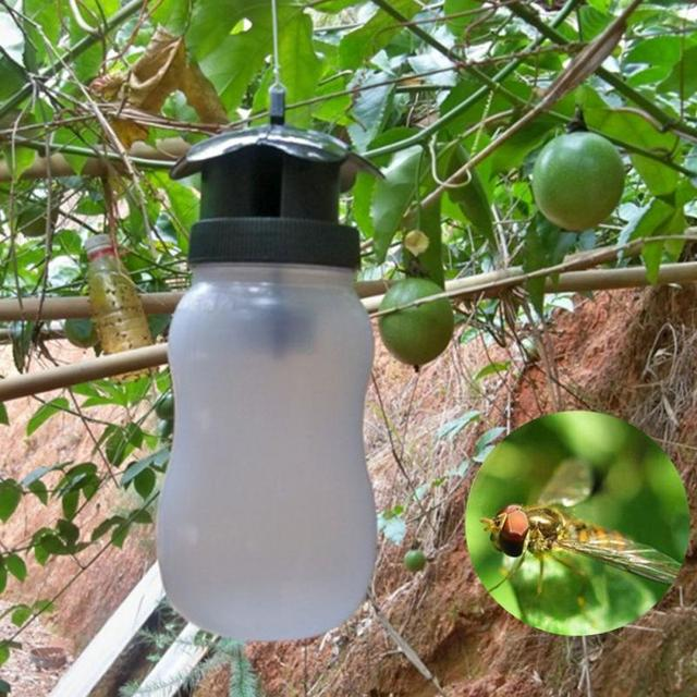 Portable Fruit Fly Trap Killer Insect Trap Fly Catcher White Plastic Outdoor Flies Garden Insect Bottle Drop Shipping