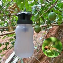 Trampa para moscas de frutas portátil, trampa para insectos, atrapamoscas de plástico blanco, moscas para exteriores, botella para insectos de jardín, triangulación de envíos