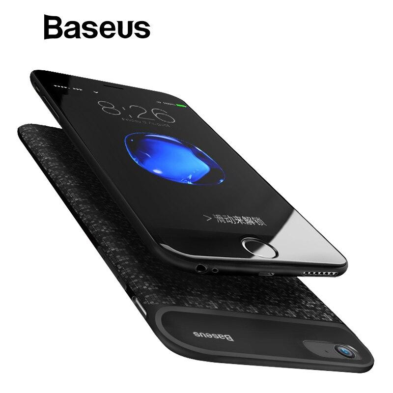 Baseus 2500 mAh/3650mAn cargador de batería para iPhone 6, 6 s de copia de seguridad caja de batería para iPhone 6 Plus 6 s Plus Banco de la energía de la cubierta de los casos