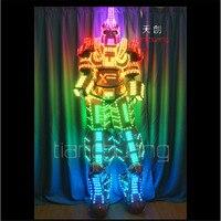 TC 138Programmable Full Color RGB Led Robot Men Costumes Luminous Light Robots Stilts Led Costumes Stage
