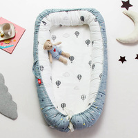 Baby Bed Infant Portable Nest Cartoon Crib Newborn Removable CuteBaby Nest Bed Crib Portable Removable And Washable Baby Crib