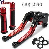 CBR Motorcycle Accessories Folding Brake Clutch Levers Handlebar handle grips FOR HONDA CBR600RR CBR 600 RR 2003 2004 2005 2006