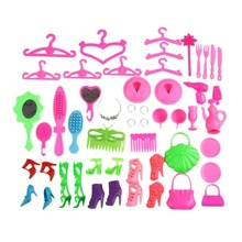 Doll Accessories For Baby Girl Doll House Mix Style Kitchen/Room/Furniture Pretend Play House Girls Play Toy Gift Headbag Shoes