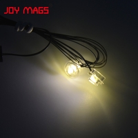LED Building Block Accessory Toy 1pcs 2 Serial Light Circular Light White And Warming White For