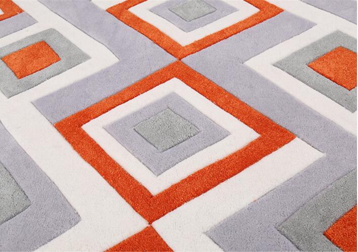 Tapis et tapis en forme d\'acrylique faits à la main pour salon tapis ...