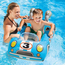 Children Cartoon Racing/ Sharks/ rocket/car water patrol Dinghy Sitting circle Floating Inflatable Raft Float Swim Accessories