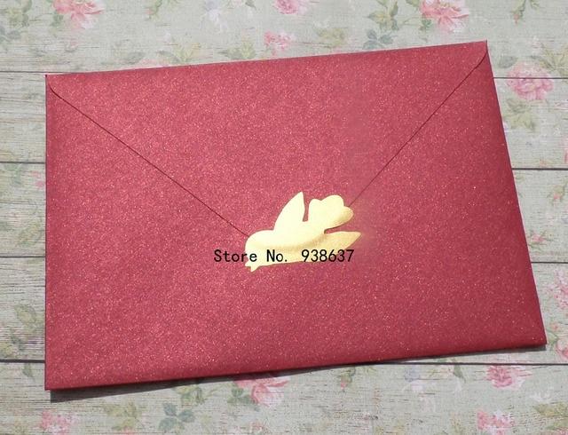 40 bird envelope stickers gold invitation seal birds birthday party