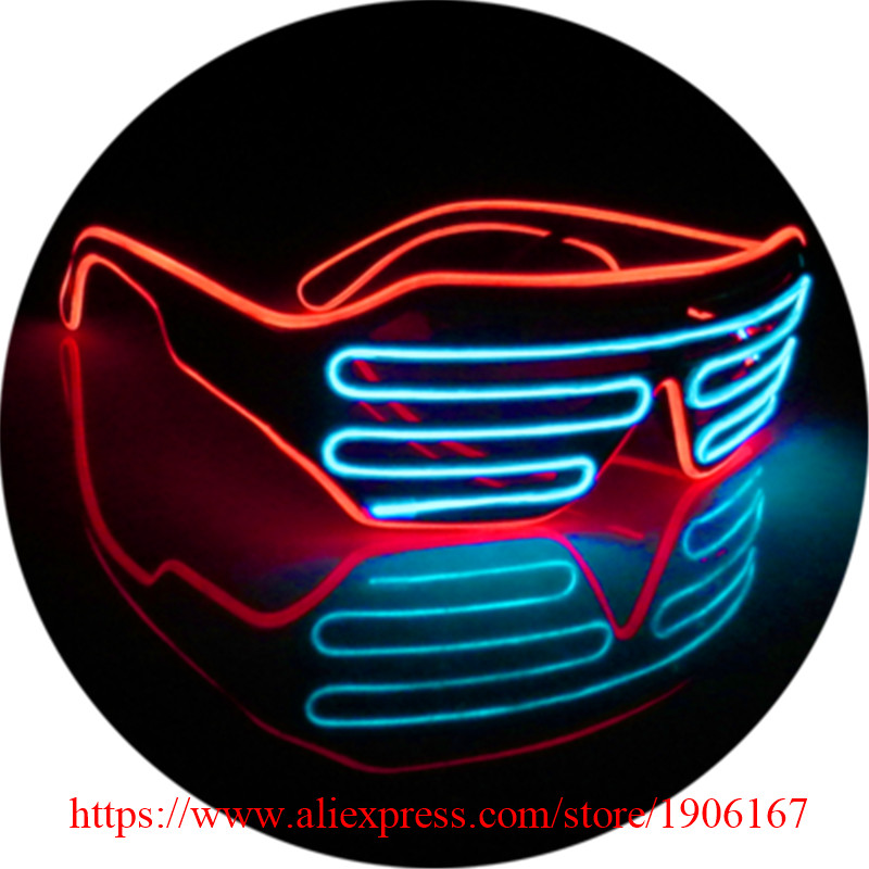 Colorful Led Luminous Party Glasses Light Up EL Wire Glasses Classic Gift Event Supplies DJ Club Stage Show Flashing Eyewear
