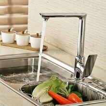 L16767 Роскошные бортике хромированная латунь отделка Материал кухонной мойки