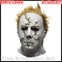 Original 100 Latex Horror Movie Halloween Michael Myers Mask Adult Party Masquerade Cosplay Latex Face Head