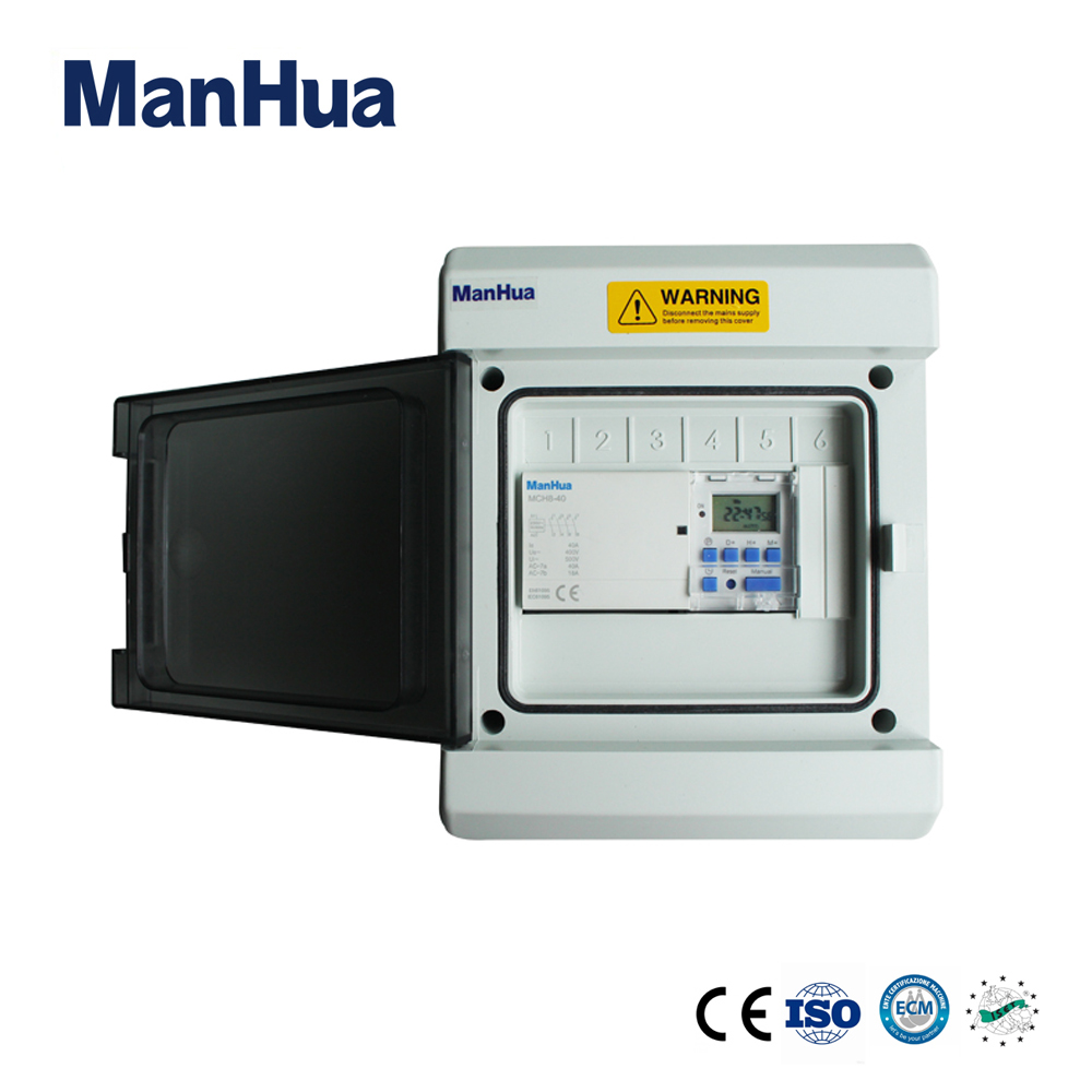 Manhua 40A Three Phase MT153C 40 With Water Proof IP65 Digital Timer Switch Control Box