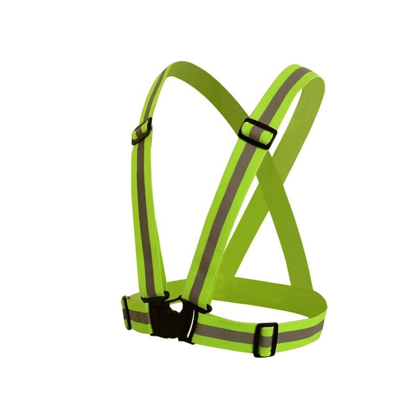 Защитная одежда повышенной видимости Chaleco reflectante 360 градусов неоновый светоотражающий жилет ремень управлением Велоспорт Спортивная верхн...