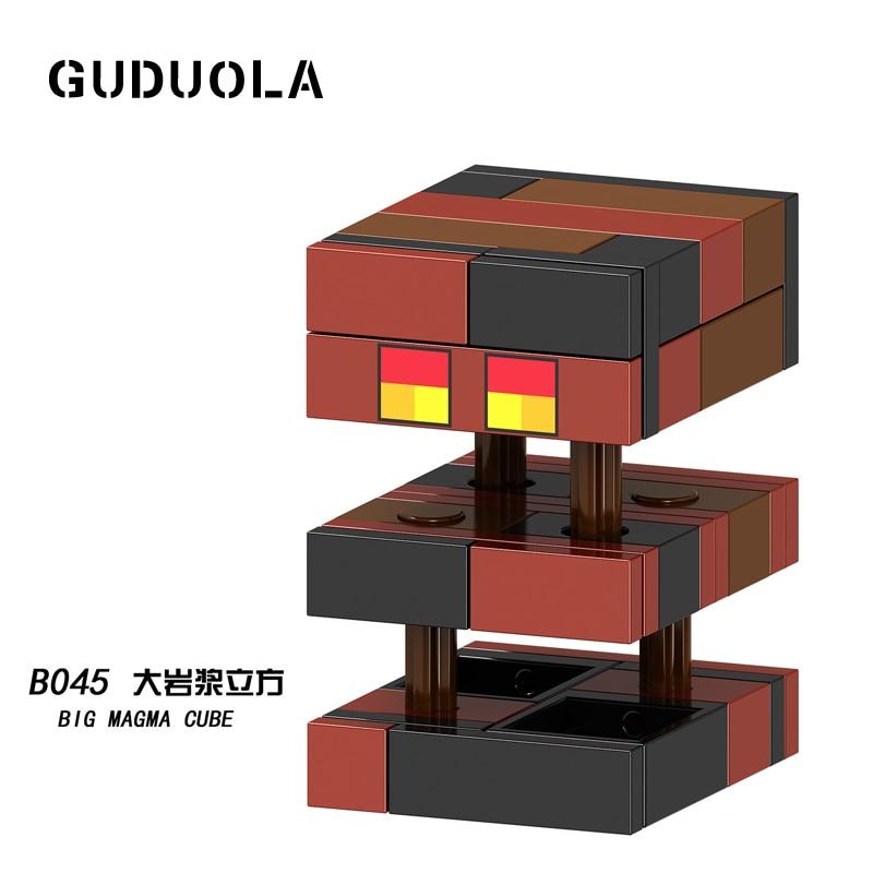 Guduola Grand Magma Cube Figure Building Blocks briques jouets Compatible Legoing minecrafted meilleur cadeau De Noël pour enfants
