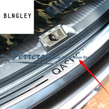 Free shipping for 2007 2009 2011  2013 Nissan Qashqai MK1 Stainless Steel back rear trunk Sill Scuff Plate Protection pedal