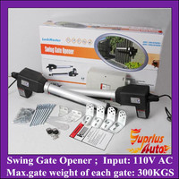 Stock Clearance ! 110V AC Input 300KGS Lift Capacity Swing Gate Opener, Double Leafs Automation Gate Operator