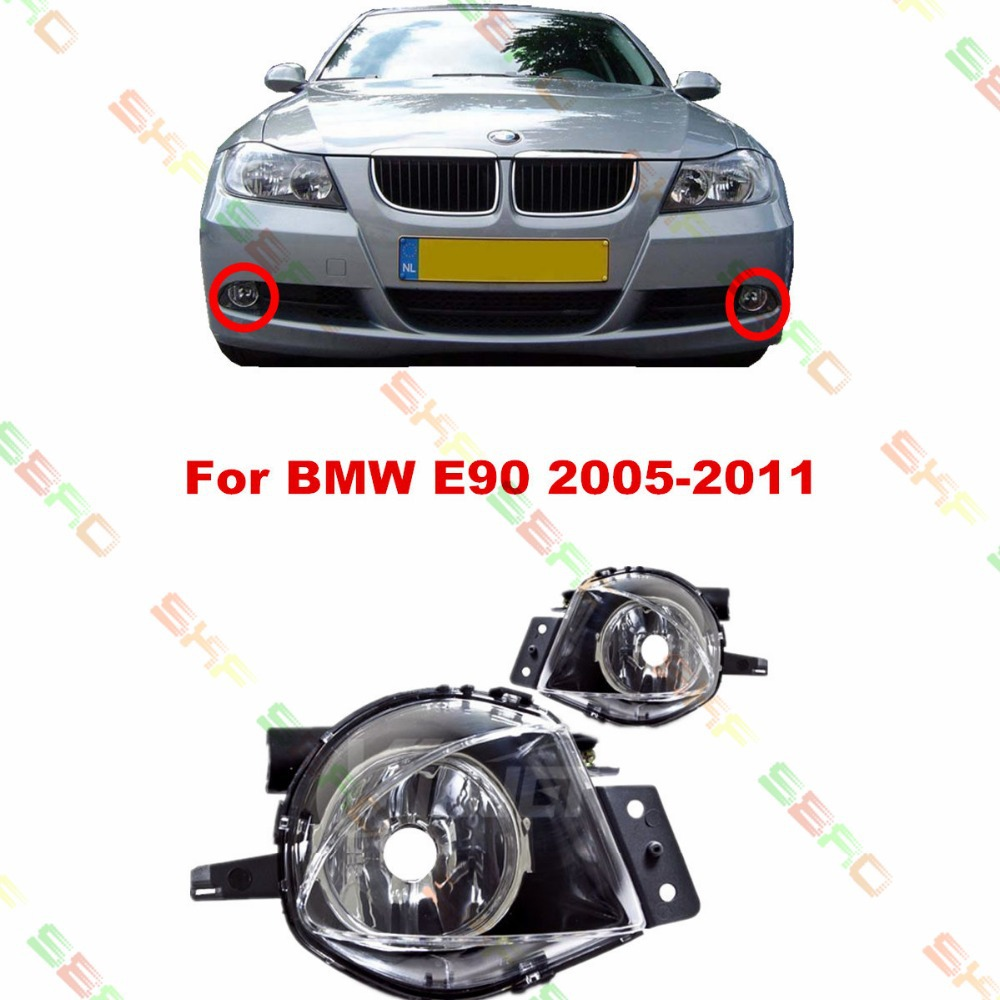 For BMW E90  2005/06/07/08  car styling fog lights FOG LAMPS  1 SET цена 2017