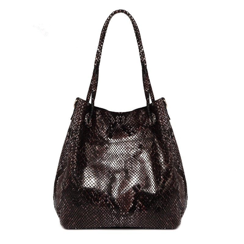 Snake pattern Lady Genuine Leather Hand Bags Luxury Designer Handbags Women Bag Tote Female Shoulder Messenger Bag Bolsos Mujer women bag oil wax women s leather handbags luxury lady hand bags with purse pocket women messenger bag big tote sac bolsos mujer