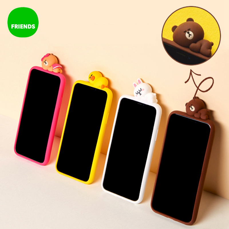 3D Lovely Cartoon Sleeping Rabbit Chick Phone Case for iPhone 6 6s 7 8 Plus X XR XS Max Soft Silicone Back Cover Bag Coque Funda