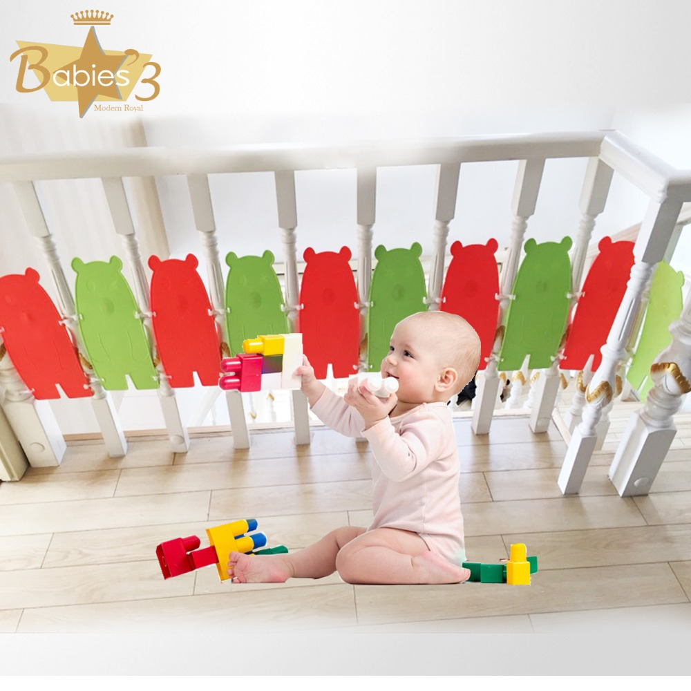 Stair Guardrail Stairs Shatter-resistant Guardrail Gate Bar Children Stair Railing Fence Child Safety Door Free Punching 6 Piece
