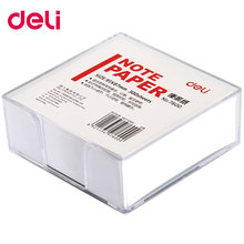 Deli note paper 300 sheets per set white office memo pad with glass box holder message
