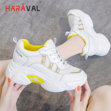 HARAVAL spring and autumn mesh fashion casual shoes women comfortable sequins breathable running sneakers  N97