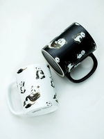 2019 new style Nordic Panda Gold Ceramic Cups Water Cup Mugs Cups Coffee Mug Couple Mug Breakfast Cup