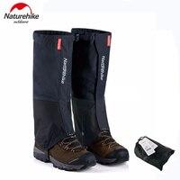 Naturehike étanche nylon neige couvre randonnée gaiters meadows ski jambe guêtres bottes couverture pour hommes et femmes