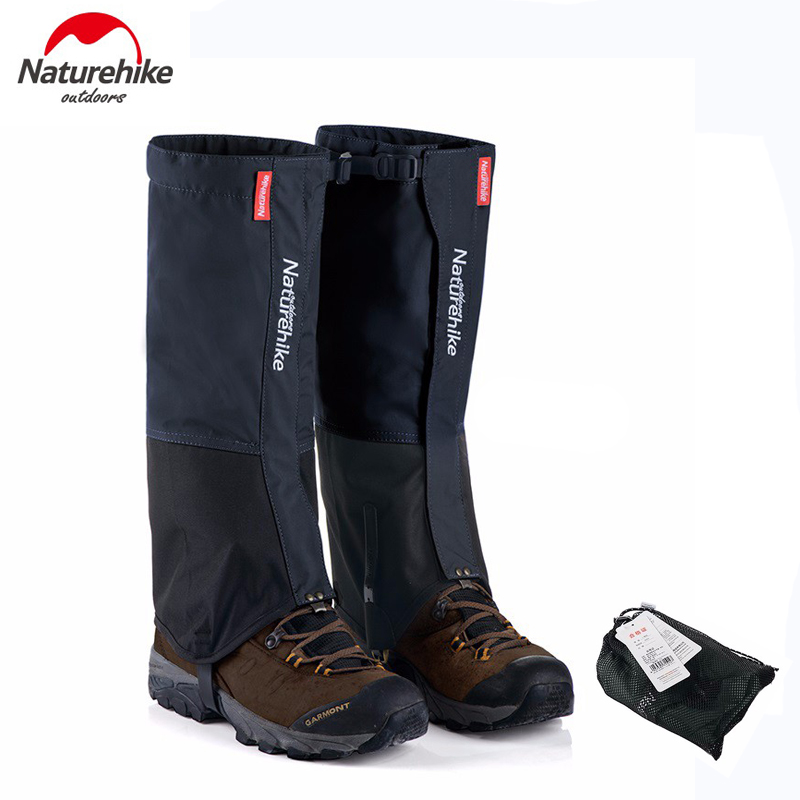 Naturehike waterproof nylon snow covers hiking gaiters meadows skiing leg gaiters boots cover for men and women