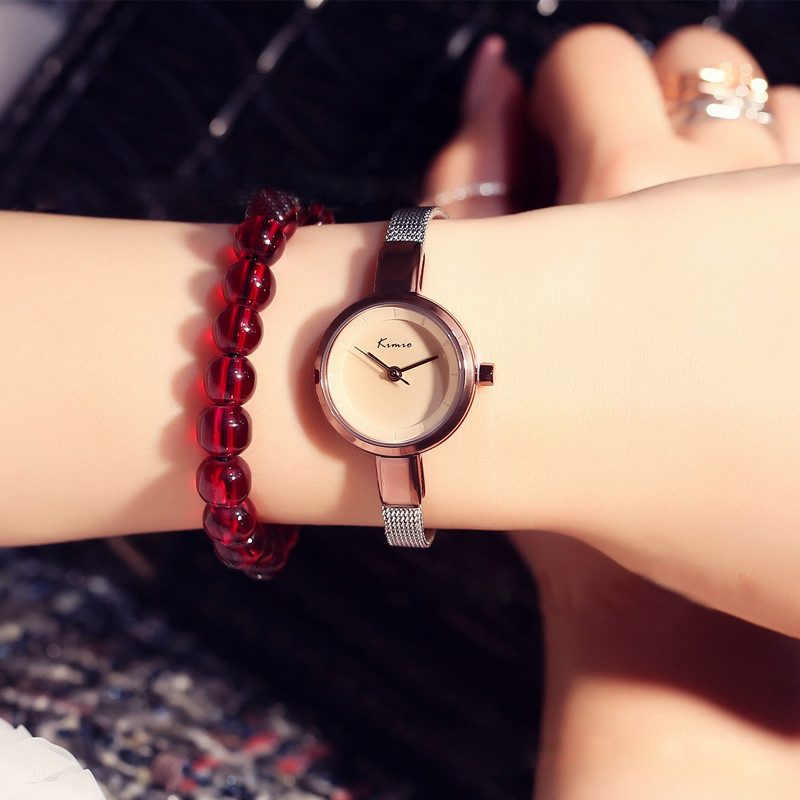 Kimio Ultra Thin Women's Bracelet Watch Ladies Stainless Steel Dress Watches With Gift Box  Relojes Mujer Relogios Montre Femme
