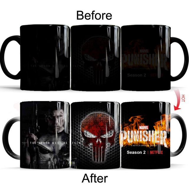 f06cd5d2c2d The Punisher coffee Mug changing color mugs milk mug cup best gift for your  friends drop shipping