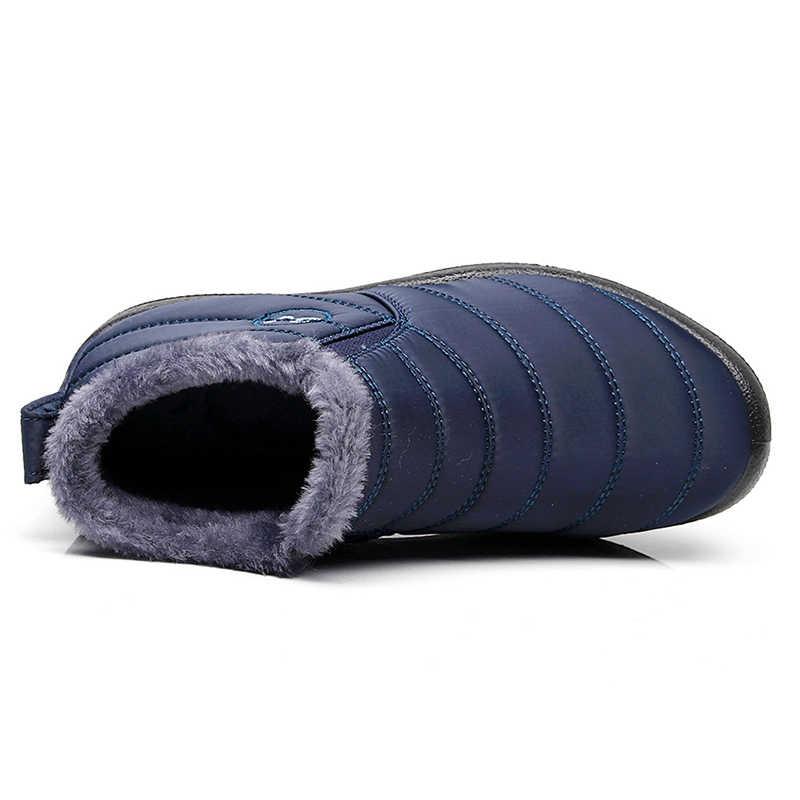 ผู้ชายรองเท้าผู้ชายฤดูหนาวรองเท้ากันน้ำ Snow Boots Botas Hombre Plus ขนาด 46 รองเท้าผู้ชายฤดูหนาวรองเท้าชาย Booties