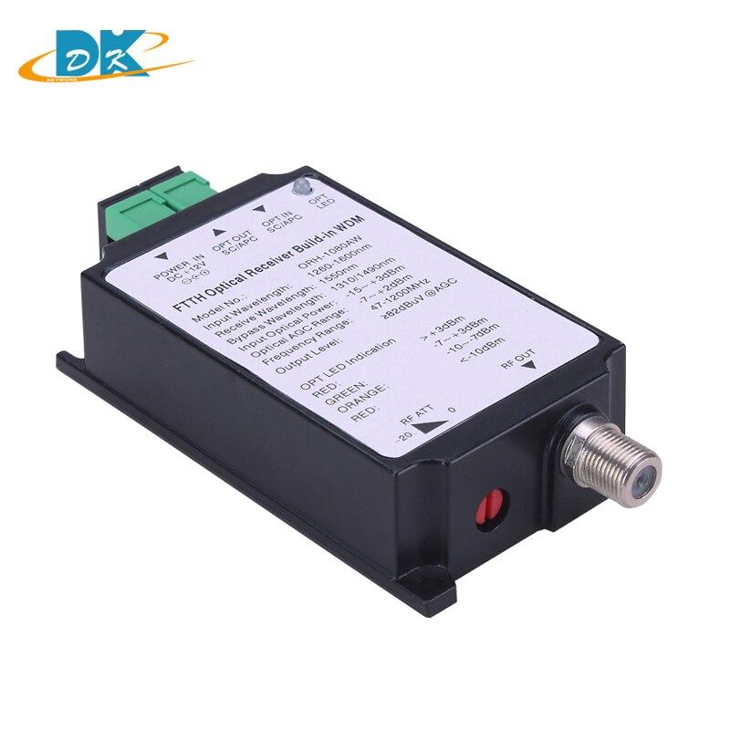 FTTH Active ORH-1080AW Mini CATV Optical Fiber Receiver Converter AGC 47-1200MHz, FTTH ORH 1080AW Optical Receiver