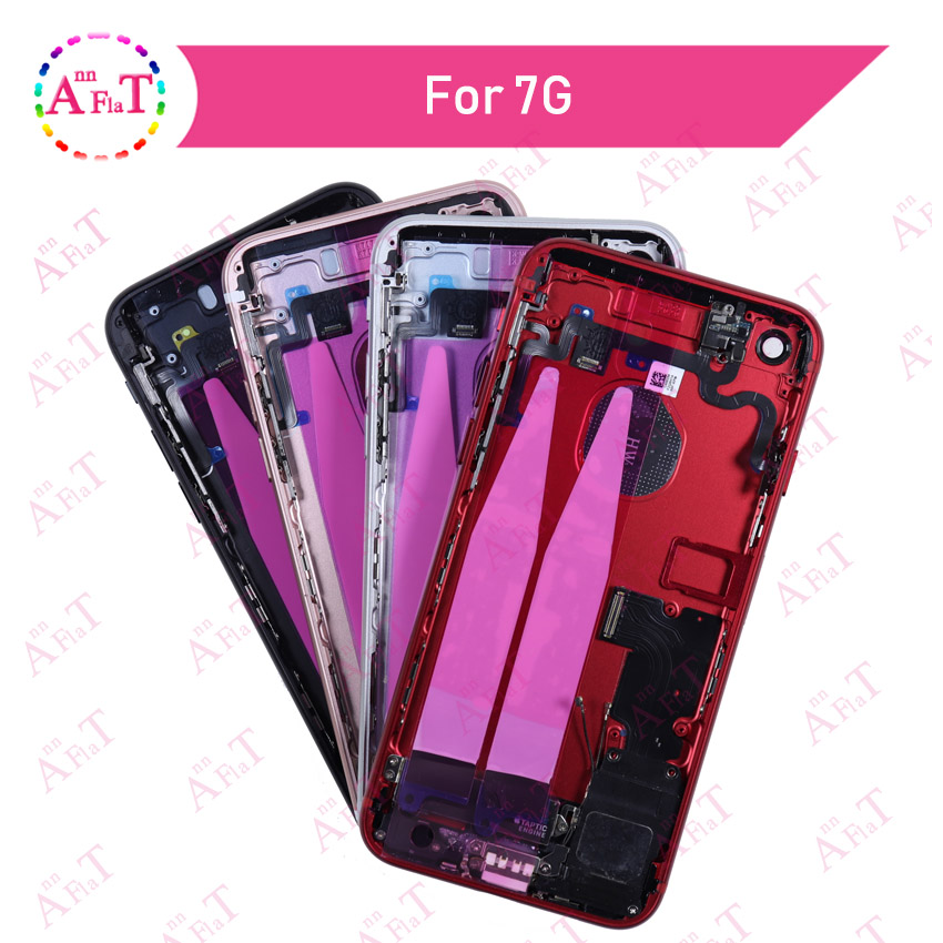 Back Middle Frame Chassis Full For IPhone 7 7g 7 Plus 8 Cover Housing Assembly Battery Cover Door Rear With Flex Cable Free Case(China)