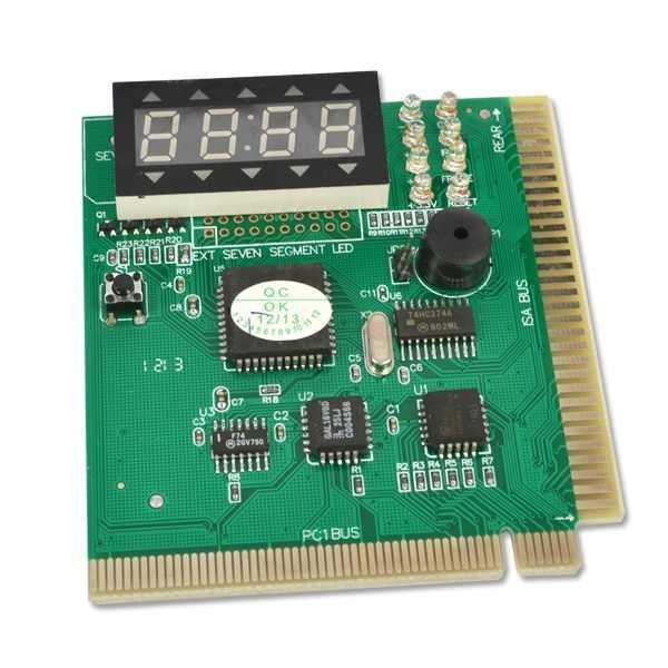 Comprobador de placa base kebidumei AK PCI & ISA, pantalla de diagnóstico, PC de 4 dígitos, placa madre, Analizador de depuración de tarjetas postales