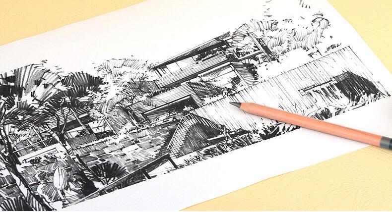 Profissional Arte Esboço Conjunto de Lápis Marco