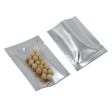6 * 9cm 300Pcs / Lot Açıq Ən Yaxşı Gümüşü Alüminium Folyo Təmiz Plastik Qablaşdırma Çantaları İstilik Möhür Vakuum Çantaları Çanta Qida Saxlama Paketləri