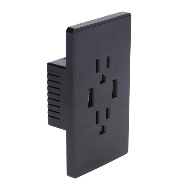 120x70x44mm US Plug Dual USB Port Wall Socket Charger AC Power ...