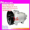 For Car Renault megane ac compressor For Car Renault Megane II 1.4 1.5 1.6 Megane I 1.4 1.6 rand Scenic II 8200050141
