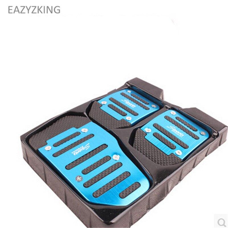 EAZYZKING Car styling Gas Brake Pedal case For Skoda Octavia Yeti Roomster Fabia Rapid Superb isudar car multimedia player automotivo gps autoradio 2 din for skoda octavia fabia rapid yeti superb vw seat car dvd player