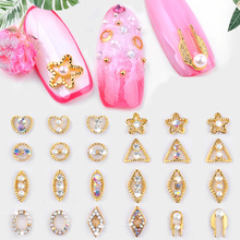 Nail Rhinestone Decoration Nail DIY Design colorful Rhinestones Alloy Manicure 3D Nail Art Decorations Accessories 10 pieces chic rhinestones butterfly shape diy nail art decoration